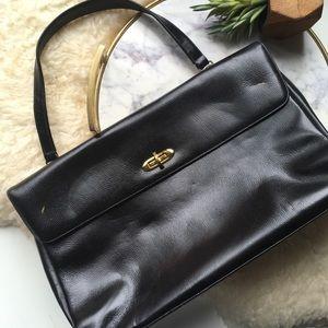 VTG•Structured Black Shoulderbag